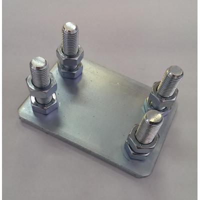 Комплект регулировочных площадок под роликовые опоры до 800 кг.
