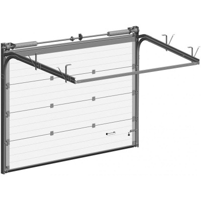 Гаражные секционные ворота Alutech Trend 2000х2625 мм
